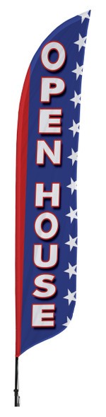 Open House Blade Flag 2ft x 11ft Nylon