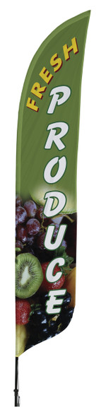 Fresh Produce Blade Flag 2ft x 11ft Nylon