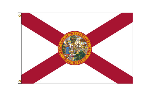 Florida 3'x5' Nylon State Flag 3ftx5ft