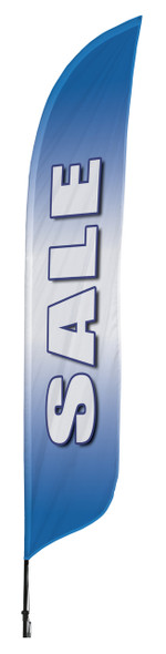 Sale Blue Blade Flag 2ft x 11ft Nylon