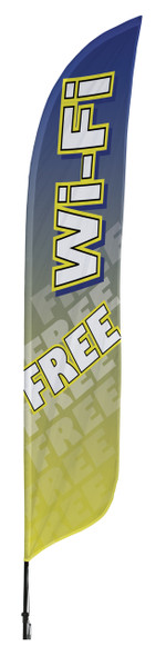 Wi-Fi Free Blade Flag 2ft x 11ft Nylon