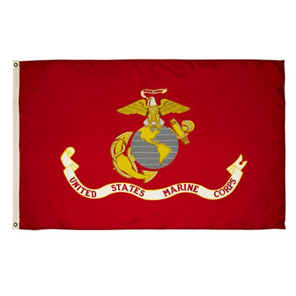 United States Marine Corps 3ftx5ft Ultra Knit Polyester Flag 3x5 Made in USA 3'x5'