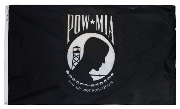 POW MIA Perma-Nyl 2x3 Feet Nylon Double Seal Flag By Valley Forge Flag