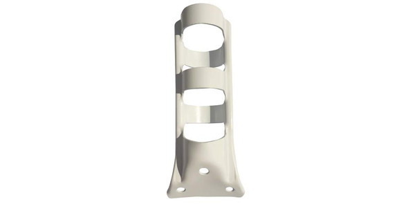 1.25 Inch 1 Position 1-1/4 Inch Painted White Stamped Steel Flagpole Bracket With Hardware