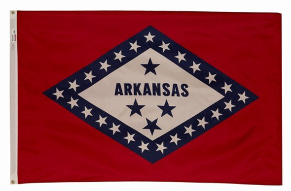 Arkansas State Flag 3x5 Feet Spectramax Nylon by Valley Forge Flag 35232040