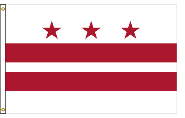 District of Columbia Washington DC 3'x5' Nylon State Flag 3ftx5ft