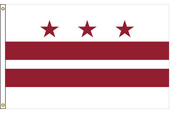 District of Columbia Washington DC 5'x8' Nylon State Flag 5ftx8ft