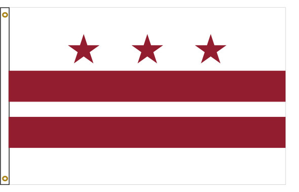 Washington, D.C. Flag 3x5 Feet Spectramax Nylon by Valley Forge Flag 35222540
