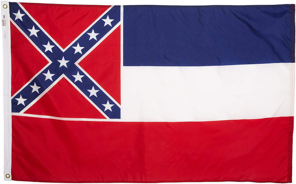 Mississippi State Flag 3x5 Feet Spectramax Nylon by Valley Forge Flag 35232240