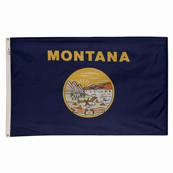 Montana State Flag 3x5 Feet Spectramax Nylon by Valley Forge Flag 35232260