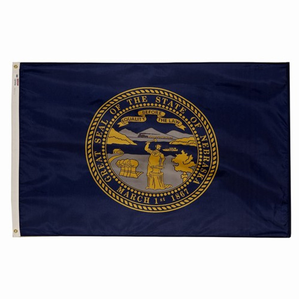 Nebraska State Flag 3x5 Feet Spectramax Nylon by Valley Forge Flag 35232270