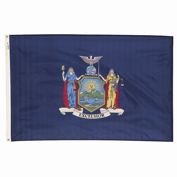 New York State Flag 3x5 Feet Spectramax Nylon by Valley Forge Flag 35232320