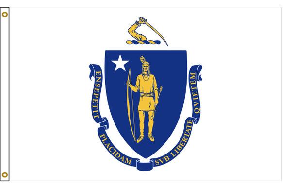 Massachusetts 3'x5' Nylon State Flag 3ftx5ft