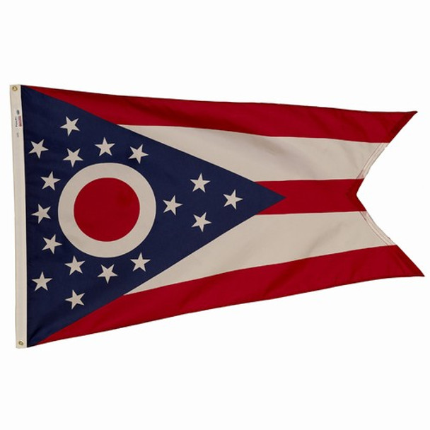 Ohio State Flag 3x5 Feet Spectramax Nylon by Valley Forge Flag 35232350