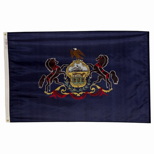 Pennsylvania State Flag 3x5 Feet Spectramax Nylon by Valley Forge Flag 35232380