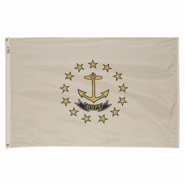 Rhode Island State Flag 3x5 Feet Spectramax Nylon by Valley Forge Flag 35232390