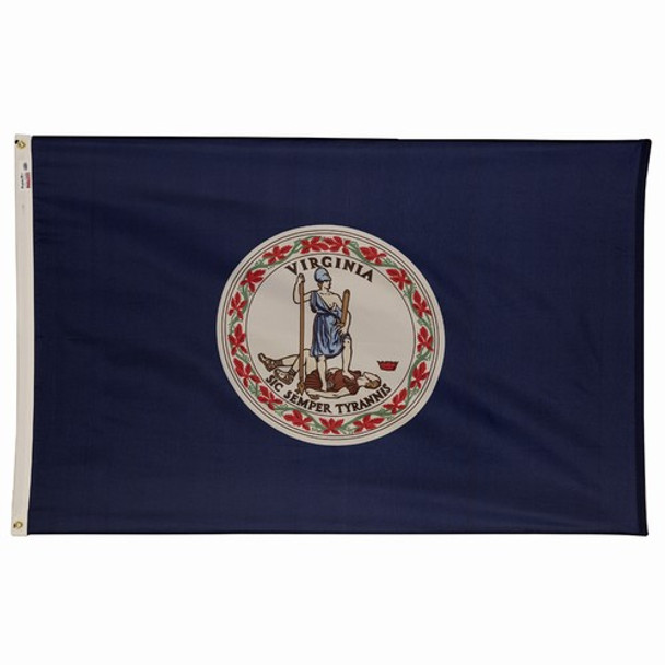 Virginia State Flag 3x5 Feet Spectramax Nylon by Valley Forge Flag 35232460