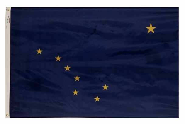 Alaska State Flag 5x8 Feet Spectramax Nylon by Valley Forge Flag 58222020