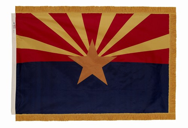 Arizona State Flag 3x5 Feet Indoor Spectramax Nylon by Valley Forge Flag 35242030