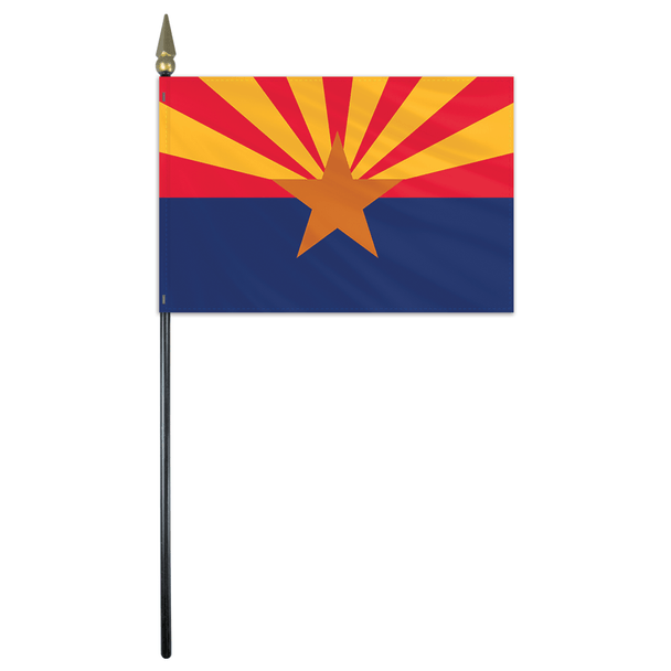 Arizona State Stick Flag 4x6 Inches Polyester by Valley Forge Flag 04762030