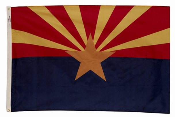 Arizona State Flag 4x6 Feet Spectramax Nylon by Valley Forge Flag 46232030