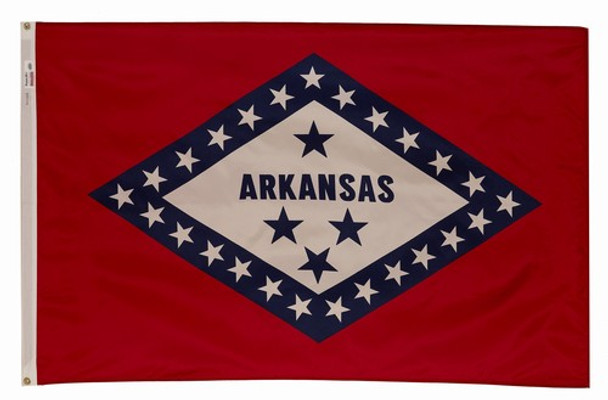 Arkansas State Flag 4x6 Feet Spectramax Nylon by Valley Forge Flag 46232040