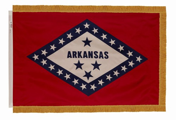 Arkansas State Flag 4x6 Feet Indoor Spectramax Nylon by Valley Forge Flag 46242040