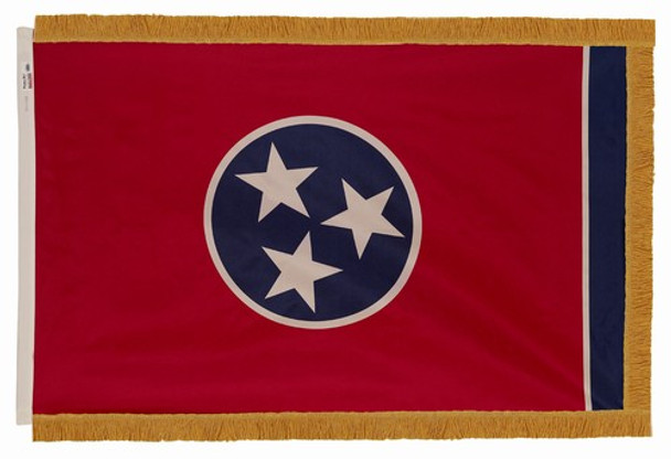 Tennessee State Flag 3x5 Feet Indoor Spectramax Nylon by Valley Forge Flag 35242420