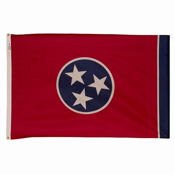 Tennessee State Flag 2x3 Feet Spectramax Nylon by Valley Forge Flag 23232420