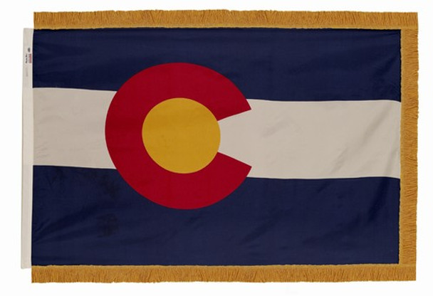 Colorado State Flag 4x6 Feet Indoor Spectramax Nylon by Valley Forge Flag 46242060