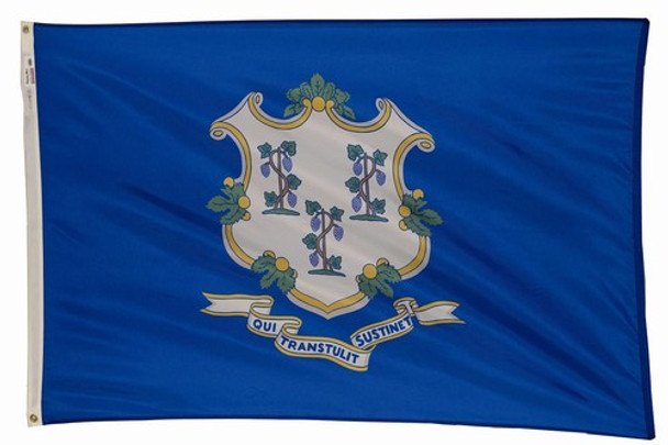 Connecticut State Flag 5x8 Feet Spectramax Nylon by Valley Forge Flag 58232070
