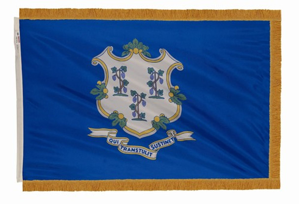 Connecticut State Flag 4x6 Feet Indoor Spectramax Nylon by Valley Forge Flag 46242070