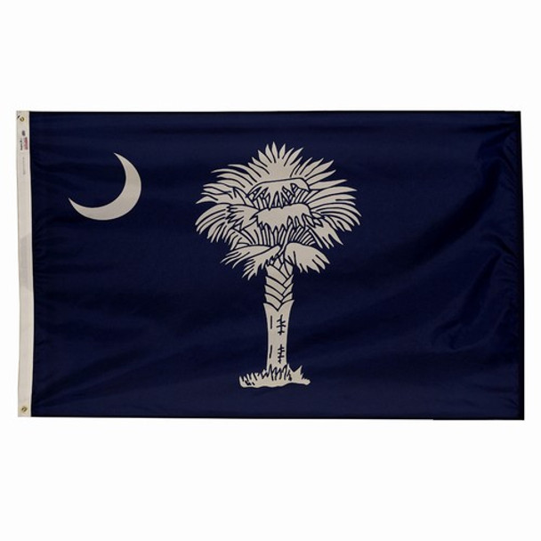 South Carolina State Flag 4x6 Feet Spectramax Nylon by Valley Forge Flag 46232400