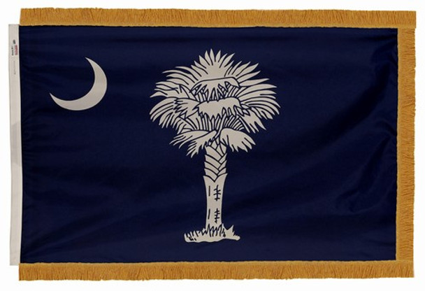 South Carolina State Flag 4x6 Feet Indoor Spectramax Nylon by Valley Forge Flag 46242400