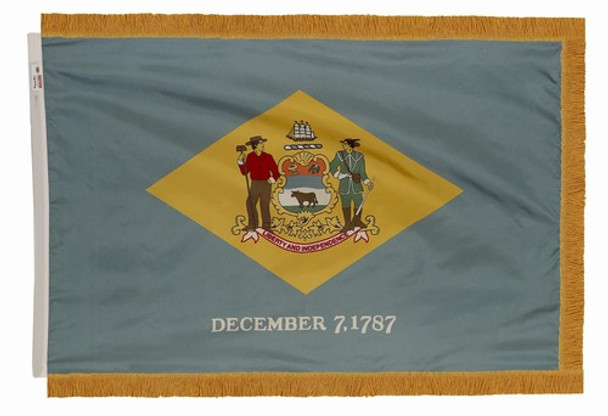 Delaware State Flag 4x6 Feet Indoor Spectramax Nylon by Valley Forge Flag 46242080