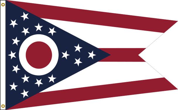Ohio 3'x5' Nylon State Flag 3ftx5ft