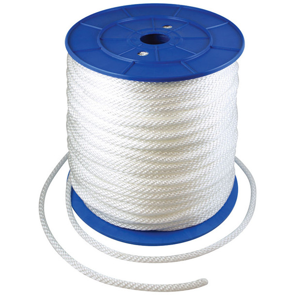 5/16 Inch Diameter x 600 Feet Length Spool White Flagpole Polypropylene Halyard - Flagpole Rope