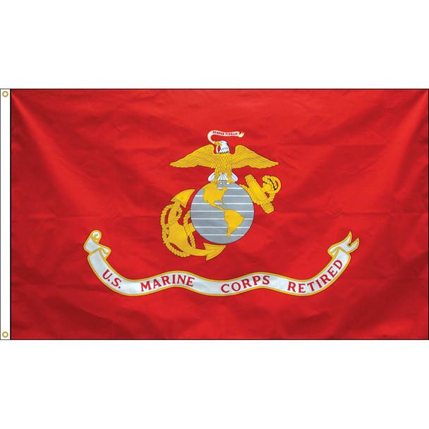 Retired Marine Corps 3x5 Feet Flag Endura-Poly 070191