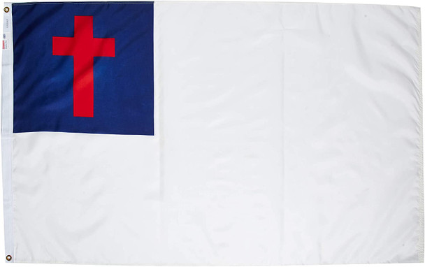 Christian Outdoor Flag 3x5 Feet Spectramax Nylon by Valley Forge Flag 35229000