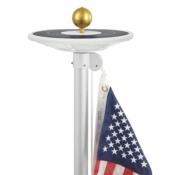 Best Flagpole Solar Light Top Mounted Commercial Grade 800 Lumen (380207)