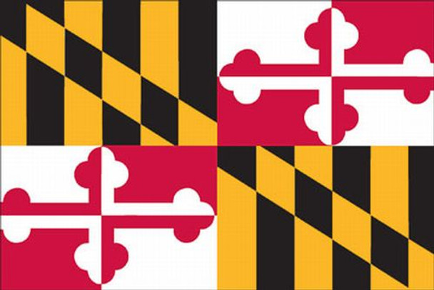 Maryland State Flag 3x5 Feet SpectraPro Polyester by Valley Forge Flag 35332200