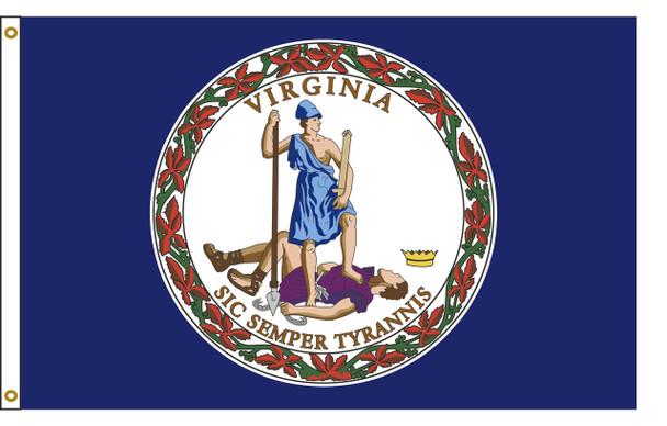 Virginia 3'x5' Nylon State Flag 3ftx5ft