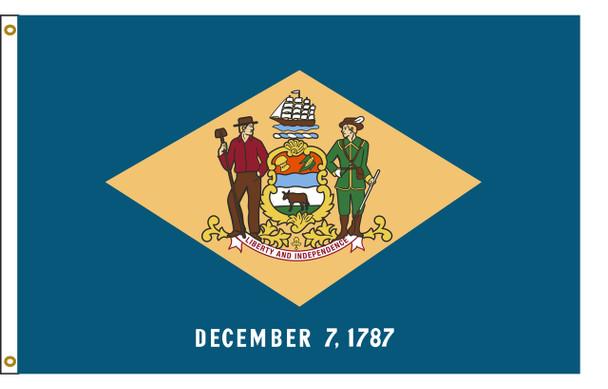 Delaware 4'x6' Nylon State Flag 4ftx6ft