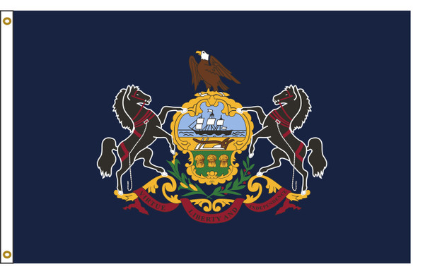 Pennsylvania  4'x6' Nylon State Flag 4ftx6ft