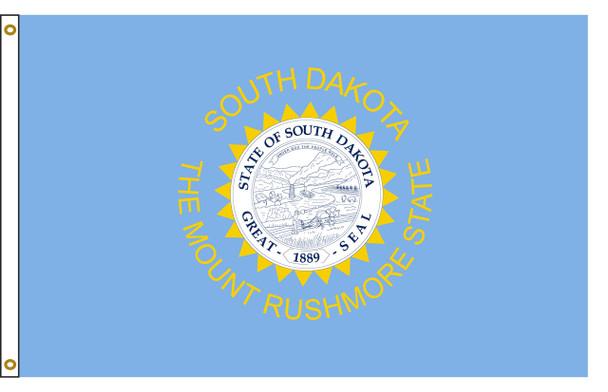South Dakota 4'x6' Nylon State Flag 4ftx6ft