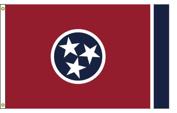 Tennessee 4'x6' Nylon State Flag 4ftx6ft