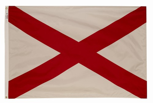 Alabama State Flag 8x12 Feet Spectramax Nylon by Valley Forge Flag 82222010