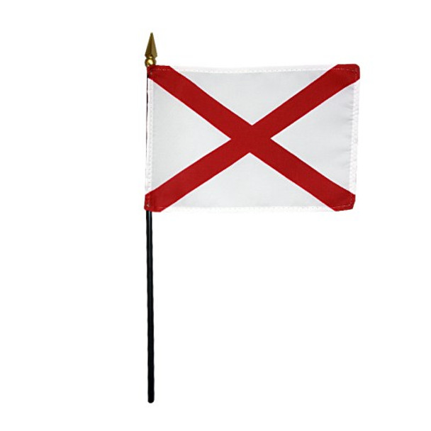Valprin 4x6 Inch Alabama Stick Flag