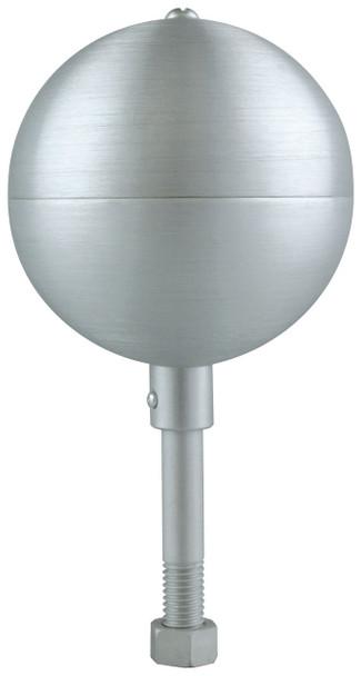 "10"" Inch Clear Aluminum Ball Flagpole Ornament"
