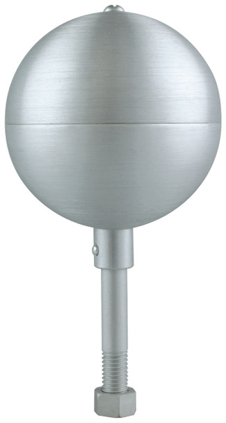 "12"" Inch Clear Aluminum Ball Flagpole Ornament"